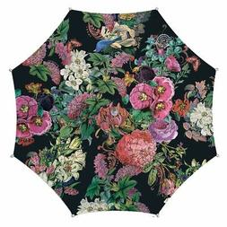 Michel Design Works FULL SIZE Wood Handle Umbrella Botanical