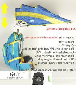 FunShell 20L Hiking Backpack Umbrella, Camping  UV Rain Prot