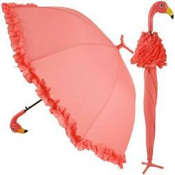 GiftCraft Pink Flamingo Full-Size Standing Parasol Umbrella