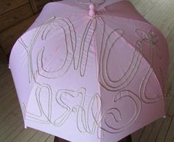 Juicy Couture Girl Pink Umbrella Gold Glitter