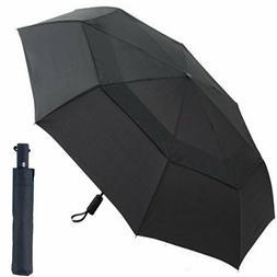 Golf Automatic Umbrella, Folding Travel Windproof 57 Inch La