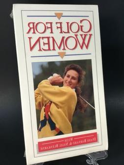 Golf For Women VHS Diane Barnard & Nigel Blenkarne 1992 Gree