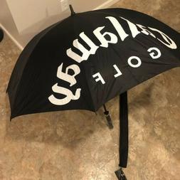 "CALLAWAY GOLF UMBRELLA 62"" SINGLE CANOPY BLACK/GREY NEW"