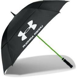 "Under Armour Golf Umbrella â?"" Double Canopy, Black/High-Vi"