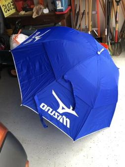 "MIZUNO 64"" GOLF UMBRELLA DOUBLE CANOPY - BLUE/WHITE - NEW 20"