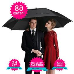 Golf Umbrella Windproof Extra Large 68 Inch Double Canopy Au