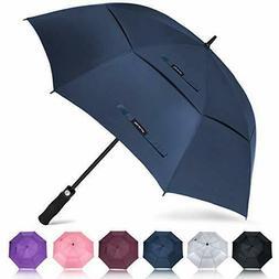 "ZOMAKE Golf Umbrella Windproof LARGE 62"" Double Canopy Autom"
