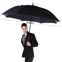 Golf Umbrella Windproof Semi Automatic Long Large For Women