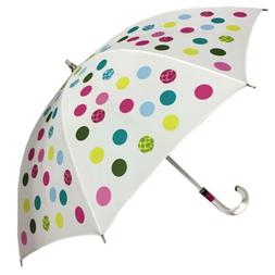 Coach Green Scarf Print Stick Umbrella Lucite Handle and Sha