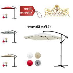 hanging patio umbrella shade cantilever outdoor offset