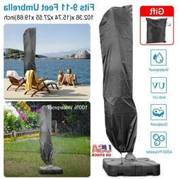 Heavy Duty Large Banana Parasol Cover Cantilever Umbrella Ou