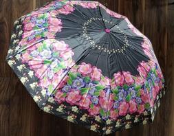 heavy duty umbrella portable 3 fold printed