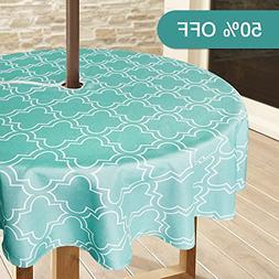 Lamberia Patio Outdoor Umbrella Tablecloth with Zipper and U