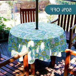 Lamberia Oval Vinyl Fabric Tablecloth Water and Stain Resist