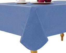 Elrene Home Fashions 37686BLU Monterey Outdoor Flannel Back
