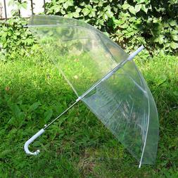 Hot Dome PVC Umbrella Large Transparent Clear See Through Pl