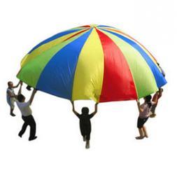 Hot Rainbow Parachute Dia 2M Child Kids <font><b>Sports</b><