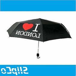 I Love London Compact UNISEX UMBRELLA Folding Brolly Cover M