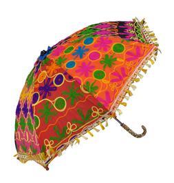 Indian Sun Shade Protection Multi Umbrella Parasol For Women