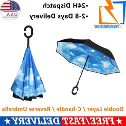 Inside Out Double Layer Reverse/Inverted Umbrella Windproof