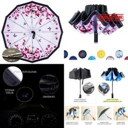 Newsight Inside Out Folding Umbrella, 12 Ribs Inverted Rain
