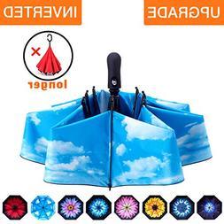 Fidus Inverted Reverse Sun&Rain Car Umbrella Large Windproof