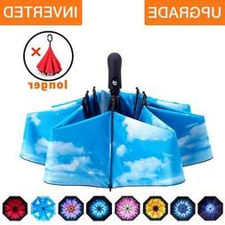 Fidus Inverted Reverse SunRain Car Umbrella Large Windproof