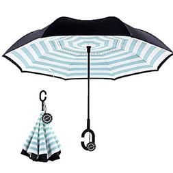 Inverted Umbrella,Double Layer Reverse Umbrella for Car and