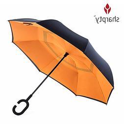 Inverted Umbrella, Best Windproof Umbrella, Cars Reverse Umb