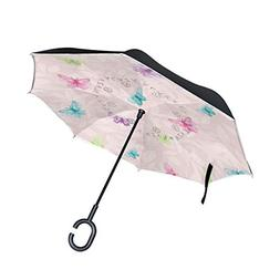 All agree Inverted Umbrella Butterfly Floral Reverse Umbrell