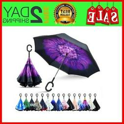 Inverted Umbrella, Double Layer Reverse Umbrella Large Insid