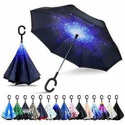 ZOMAKE Inverted Umbrella, Double Layer Reverse Umbrella Larg