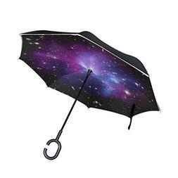 Inverted Umbrella Purple Galaxy Space Reverse Umbrella UV Pr