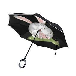 Inverted Umbrella Rabbit Reverse Umbrella UV Protection Wind
