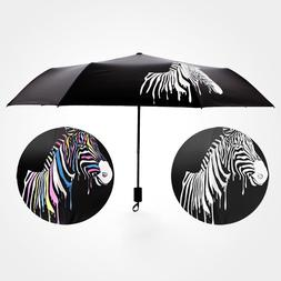 JPZYLFKZL Black Water Discoloration Zebra <font><b>Umbrella<