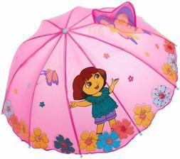 Kidorable Purple Dora the Explorer Umbrella for Girls w/Fun