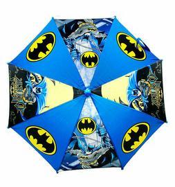 Kids Collapsible Umbrella 3D Handle Boys DC Comics Batman Bl