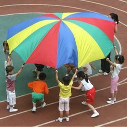 kids umbrella sports outdoor rainbow cloth toy