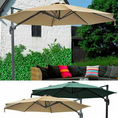10' Deluxe Patio Hanging Roma Offset Umbrella Outdoor Cantil