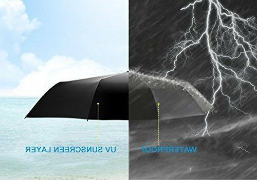 Automatic Black Umbrella Sun/Rain Windproof Compact
