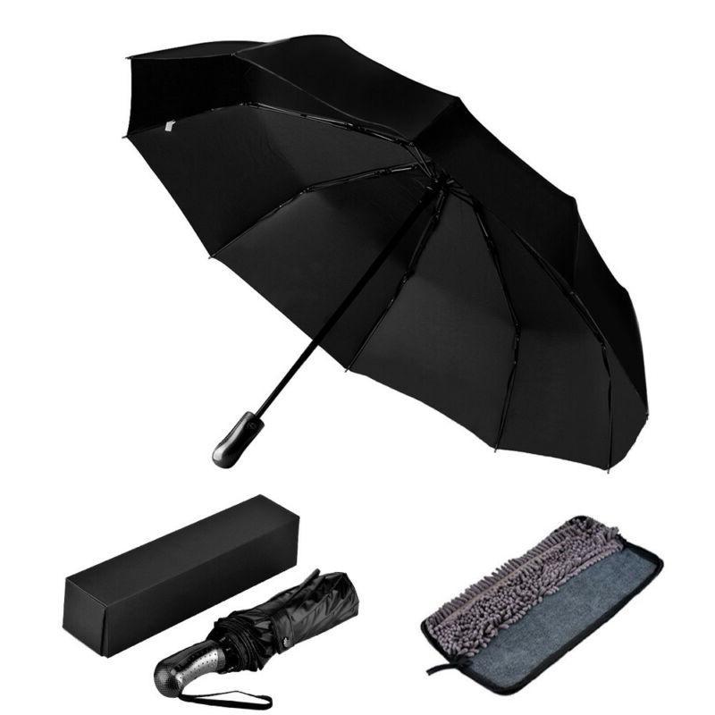Automatic Black Sun/Rain Compact Umbrella