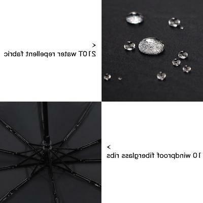Umbrella Open Close Waterproof Black
