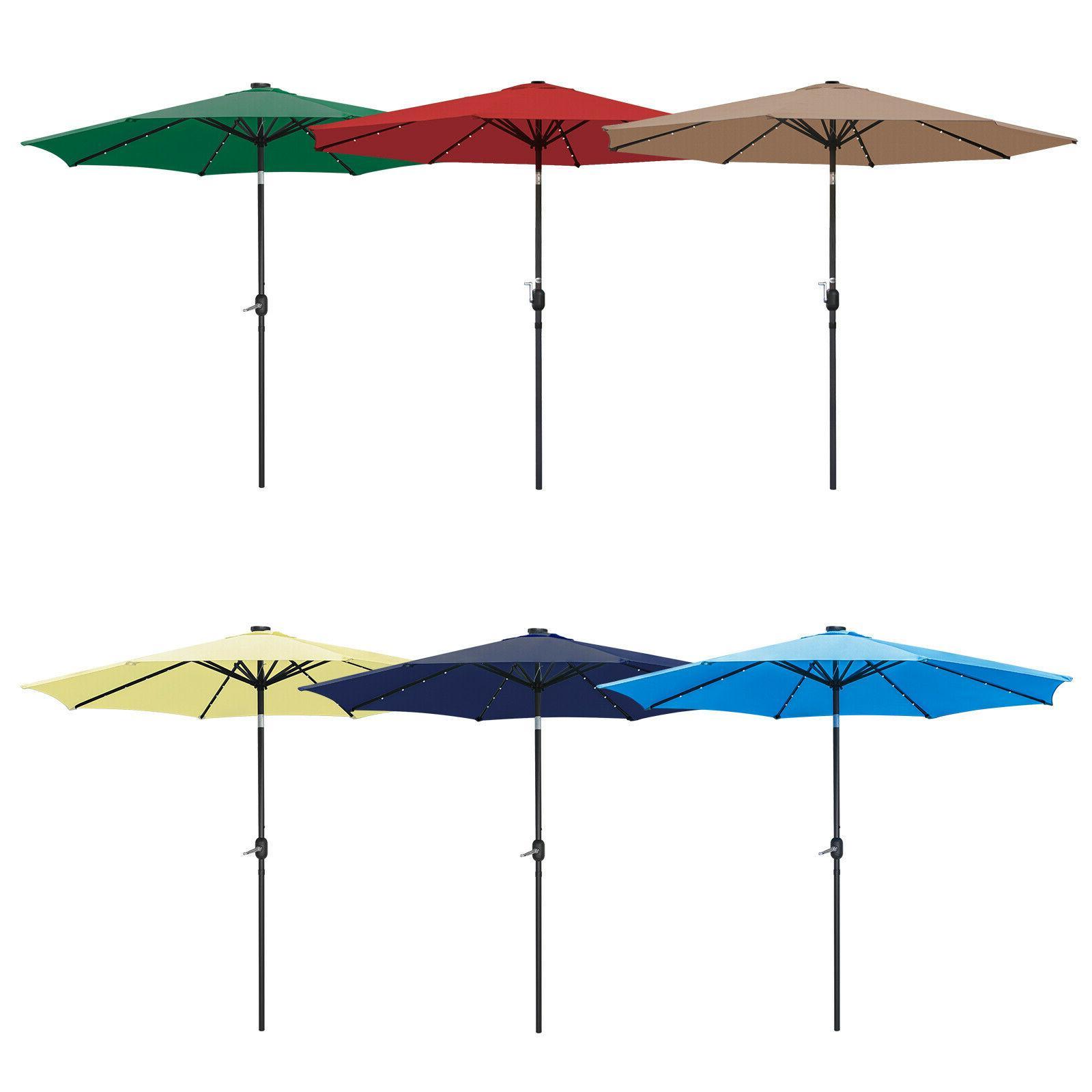 10ft patio solar umbrella led patio market