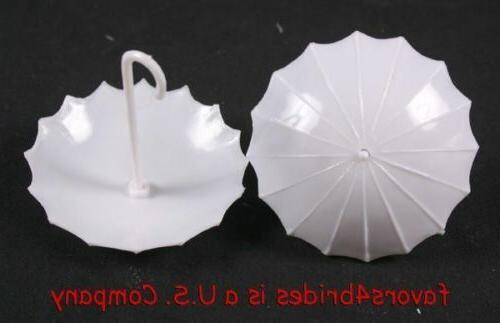 12 white umbrella wedding baby shower plastic