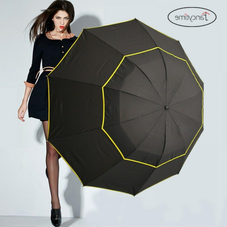 130cm Big Golf Umbrellas for Men Windproof Large Women Sun F