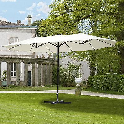 15 double sided patio umbrella parasol sun