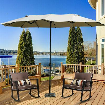 15' Market Outdoor Double-Sided Twin Umbrella with