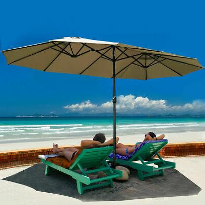 15 market outdoor umbrella double sided twin