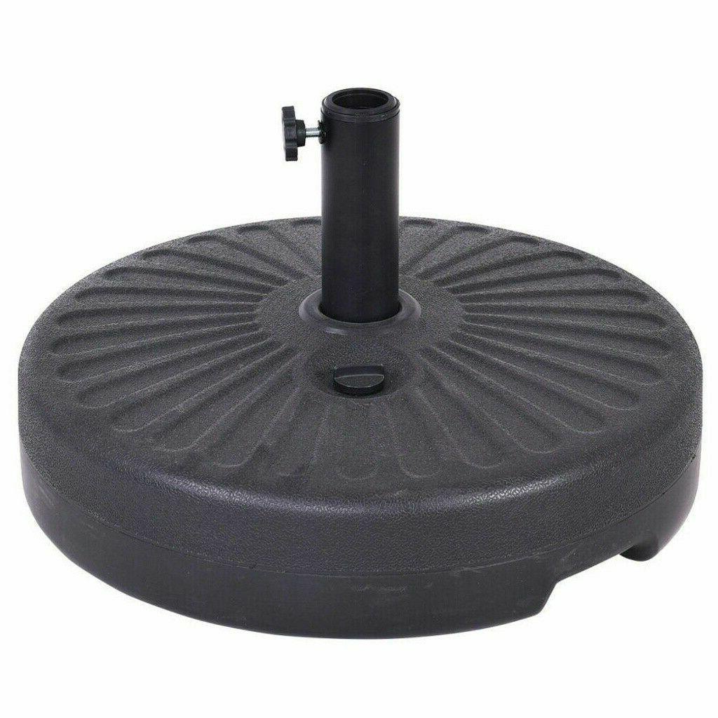 "50lb Plastic Water Umbrella Base Recyclable Patio 20"" Umbrel"