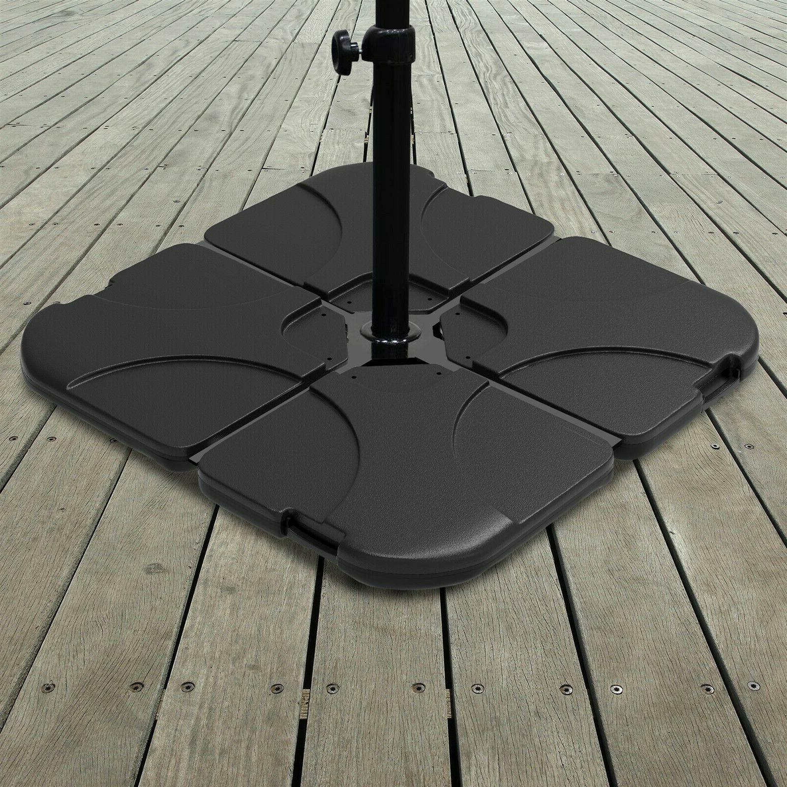 220 pd capacity umbrella stand weighted offset
